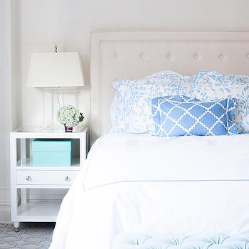 White and Blue Bedrooms, Transitional, bedroom, Lilly Bunn Interior