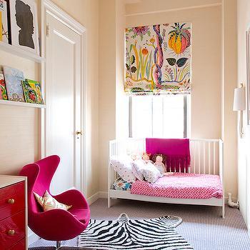 Hot Pink Dresser, Contemporary, girl's room, Lilly Bunn Interior