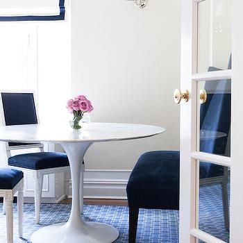 Navy Dining Chairs, Contemporary, dining room, Lilly Bunn Interior