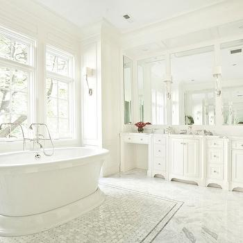 Marble Inset tiles, Transitional, bathroom, PLD Custom Homes