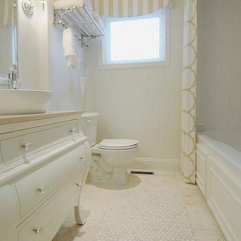 Trellis Shower Curtain, Transitional, bathroom, Corea Sotropa Interior Design