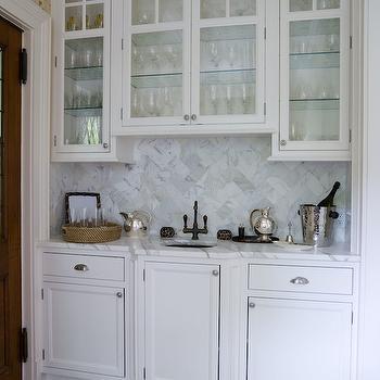Wet Bar Sink, Transitional, kitchen, Thornton Designs