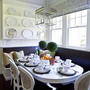 White Oval Dining Table, Cottage, kitchen, Thornton Designs
