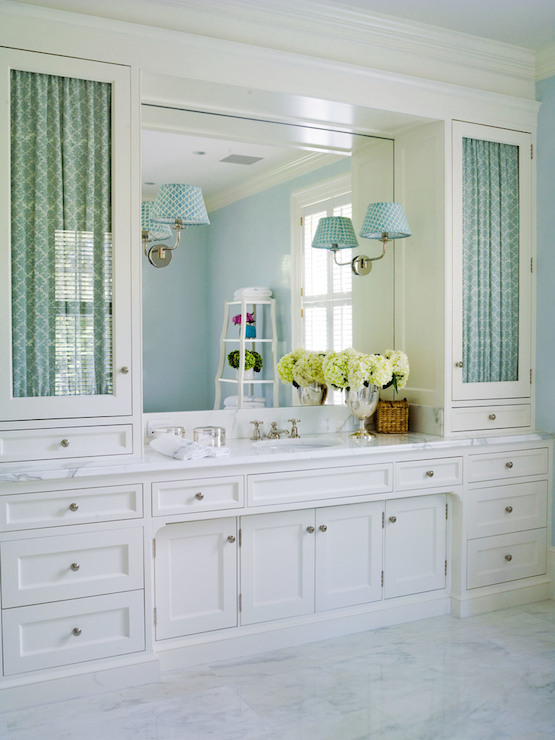 Custom Built Vanity Transitional Bathroom Thornton Designs