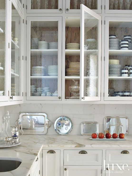 Seeded Glass Cabinet Doors Design Ideas