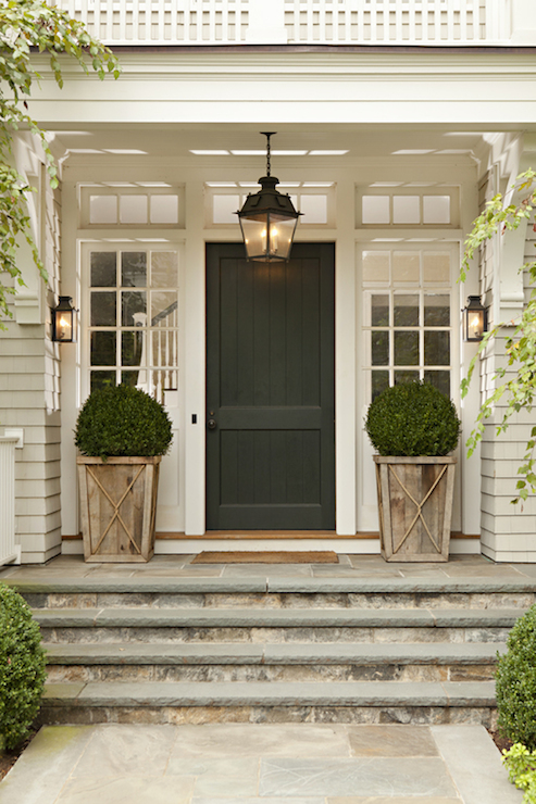 Glass Paned Doors Traditional Home Exterior Linda