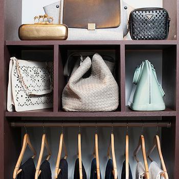 Bag Storage Ideas, Transitional, closet, Neat Method