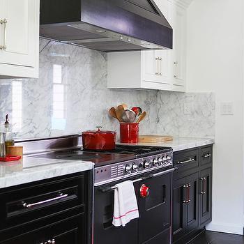 Black and White Kitchen, Contemporary, kitchen, Lonny Magazine