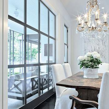 Factory Window, Transitional, dining room, Luxe Interiors and Design