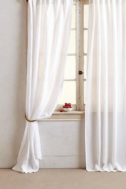 Dove White Linen Window Drapes And Curtains 226 Half Price