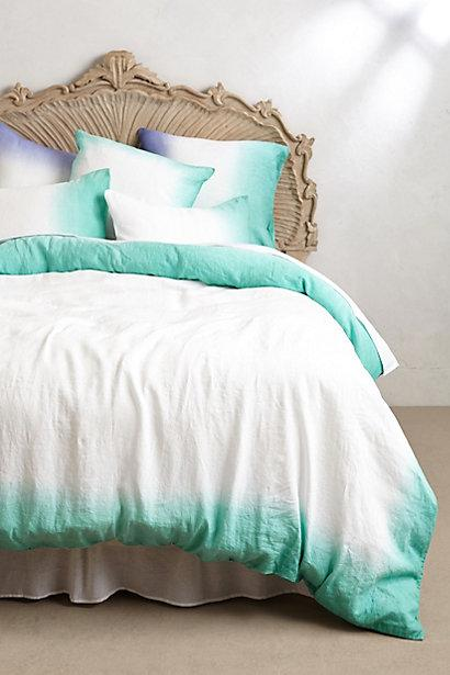 Sol Linen Turquoise And White Duvet