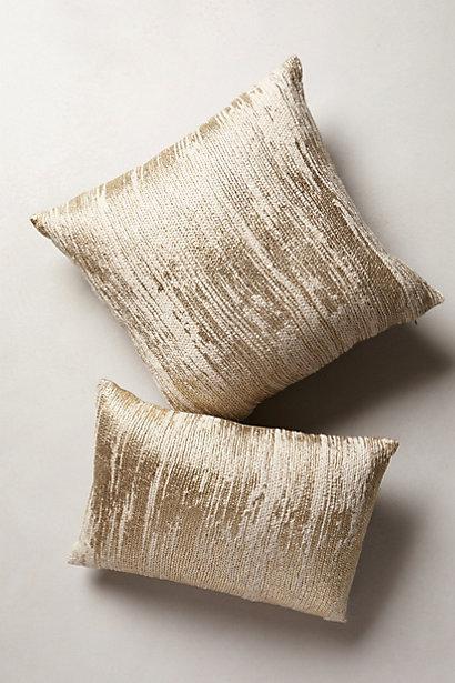 plaited gold metallics pillow