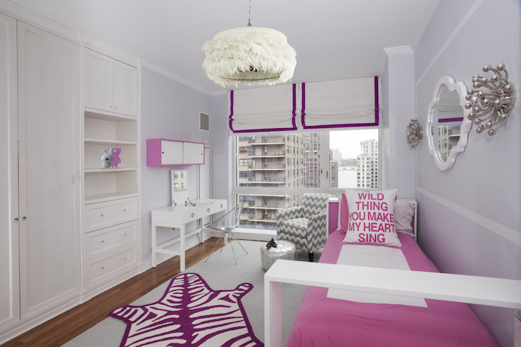 Pink and Purple Kids Room - Contemporary - girl\'s room ...