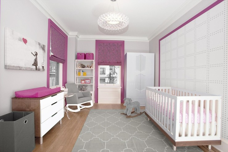 Pink And Gray Nursery Contemporary Nursery Lily Z Design