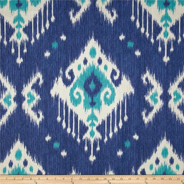 Toscana Ikat Blue Fabric By The Yard Ballard Designs