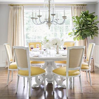 Yellow And Gray Dining Room Part 4