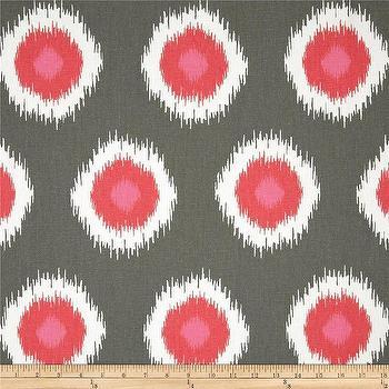 Premier Prints Ikat Domino Flamingo I Fabric.com