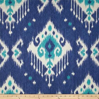 Magnolia Home Fashions Dakota Ikat Ocean I Fabric.com