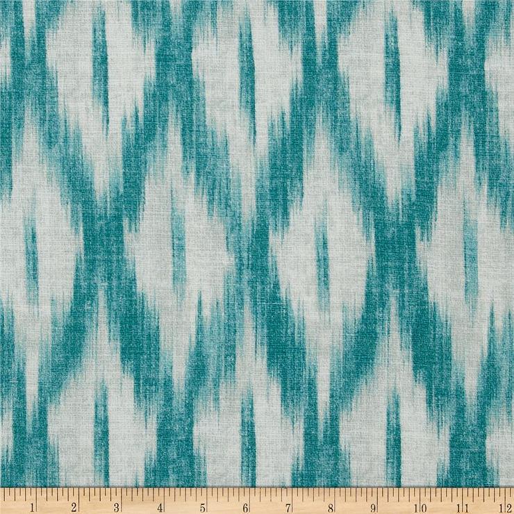 Swavelle Mill Creek Tizia Ikat Teal Fabric