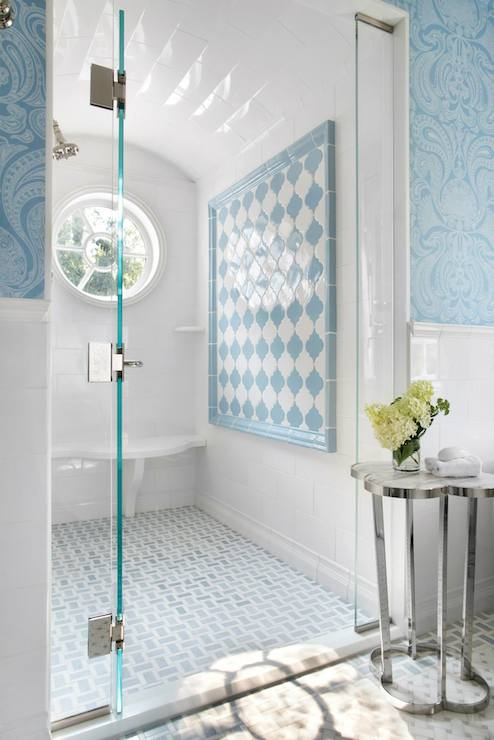 Barrel Ceiling Shower Cottage Bathroom Traci Rhoads