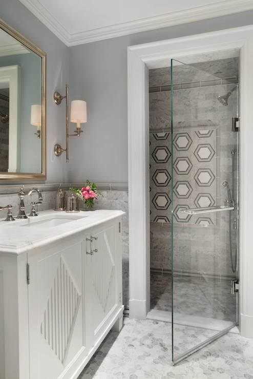 Lucite Washstand Transitional Bathroom Ej Interiors