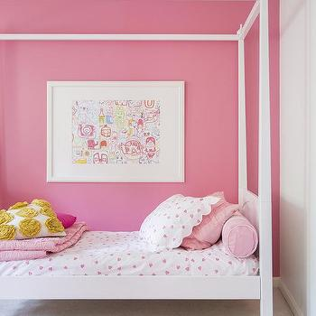 Kids Canopy Bed, Transitional, girl's room, Domino Magazine