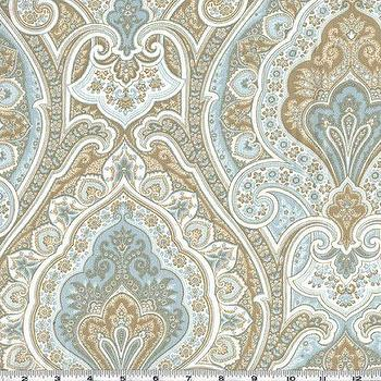 Richloom Solarium Outdoor Grovedale Paisley Sky Blue And