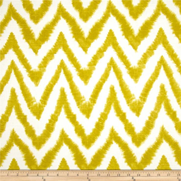 Prints Diva Chevron Slub Artist Green Fabric