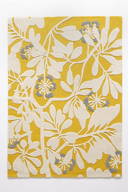 Flora Tufted Yellow White Rug