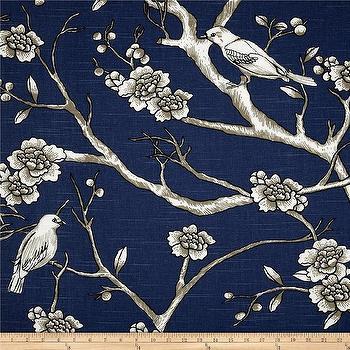 Dwell Studio Vintage Blossom Slub Twilight I Fabric.com