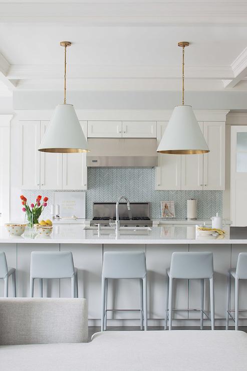 Chevron Backsplash Contemporary Kitchen Von Fitz Design