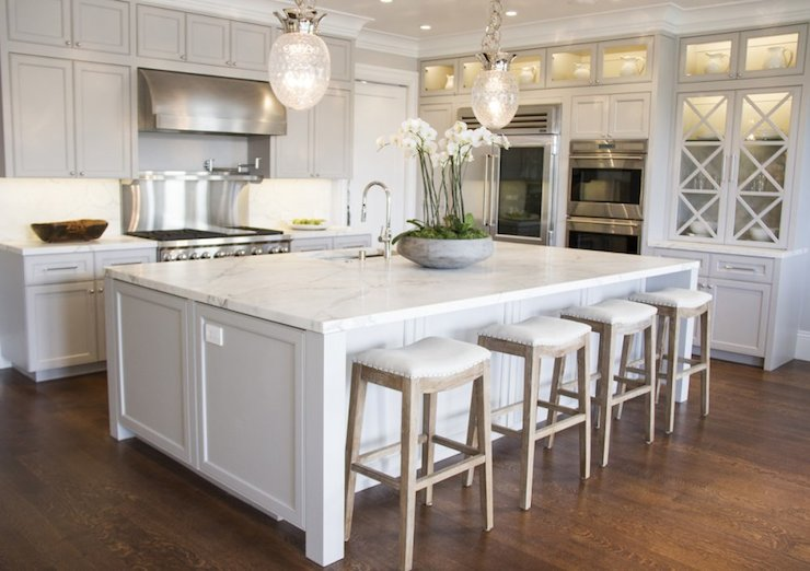 Light Gray Kitchen Cabinets Transitional Kitchen Marsh And Clark Mesmerizing White Kitchen Remodel Concept Decoration
