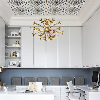 Tray Ceiling Wallpaper, Contemporary, den/library/office, Terris Lightfoot