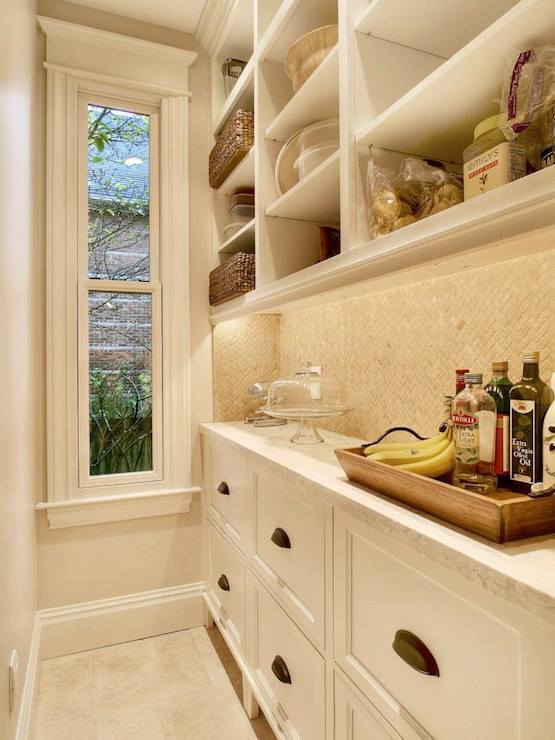 Long Butlers Pantry Transitional Kitchen Leeann
