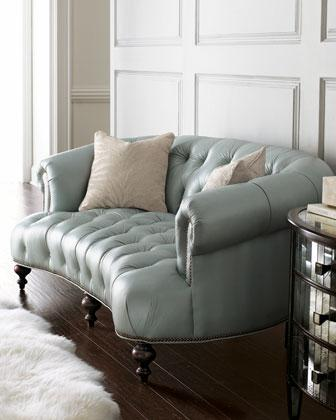 Old Hickory Tannery Raza Pressley Blue Sofa