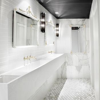 Floating Trough Sink, Contemporary, bathroom, Commute Design
