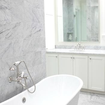 Grey Bathroom Accent Wall Design Ideas