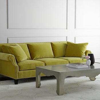 Attirant Parker Chartreuse Sofa