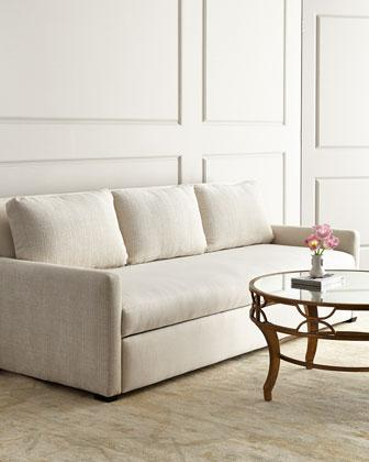 Lee Industries Burbank White Sleeper Sofa