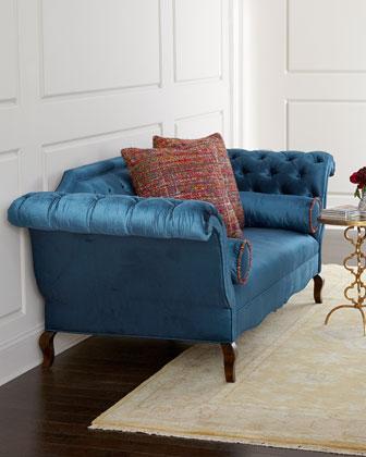 Swell Haute House Orion Chippendale Blue Sofa Machost Co Dining Chair Design Ideas Machostcouk