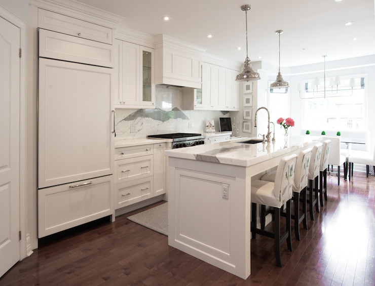 Light Gray Kitchen Cabinets - Transitional - kitchen - Marsh and Clark