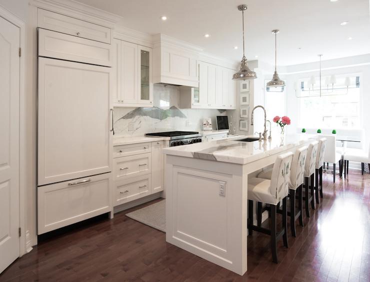 Cabinet Front Refrigerator Transitional Kitchen