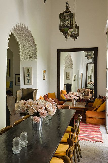moroccan dining room - mediterranean - dining room - gordon stein