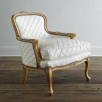 Faux Bois Tuxedo Chair In Ivory Modern Chic Home