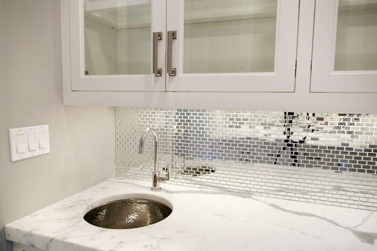 mirrored tiled backsplash contemporary bathroom ana