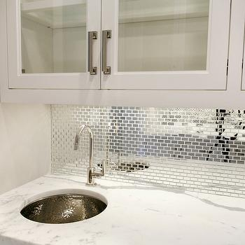 mirrored tile backsplash design ideas rh decorpad com Mirrored Subway Tiles Pattern Wall Tile Kitchen Backsplash