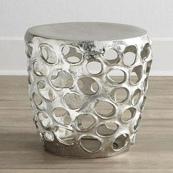 Openwork Silver Stool & Three Hands Chrome Stool I Target islam-shia.org