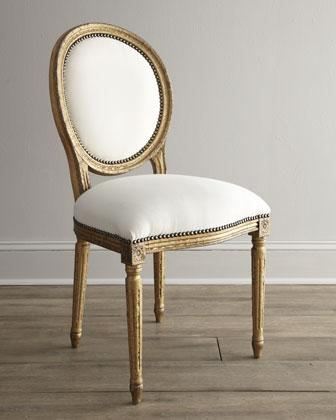 old hickory tannery serena ivory and gold dining chair