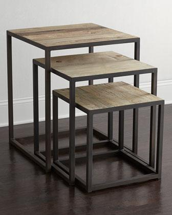 Three finder black and brown nesting tables watchthetrailerfo