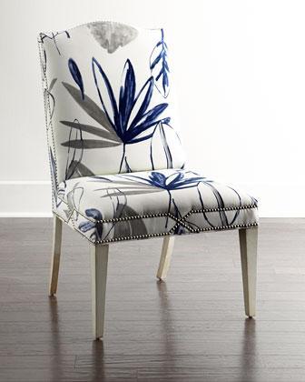 Brilliant Massoud Allison Blue And White Botanical Dining Chair Creativecarmelina Interior Chair Design Creativecarmelinacom